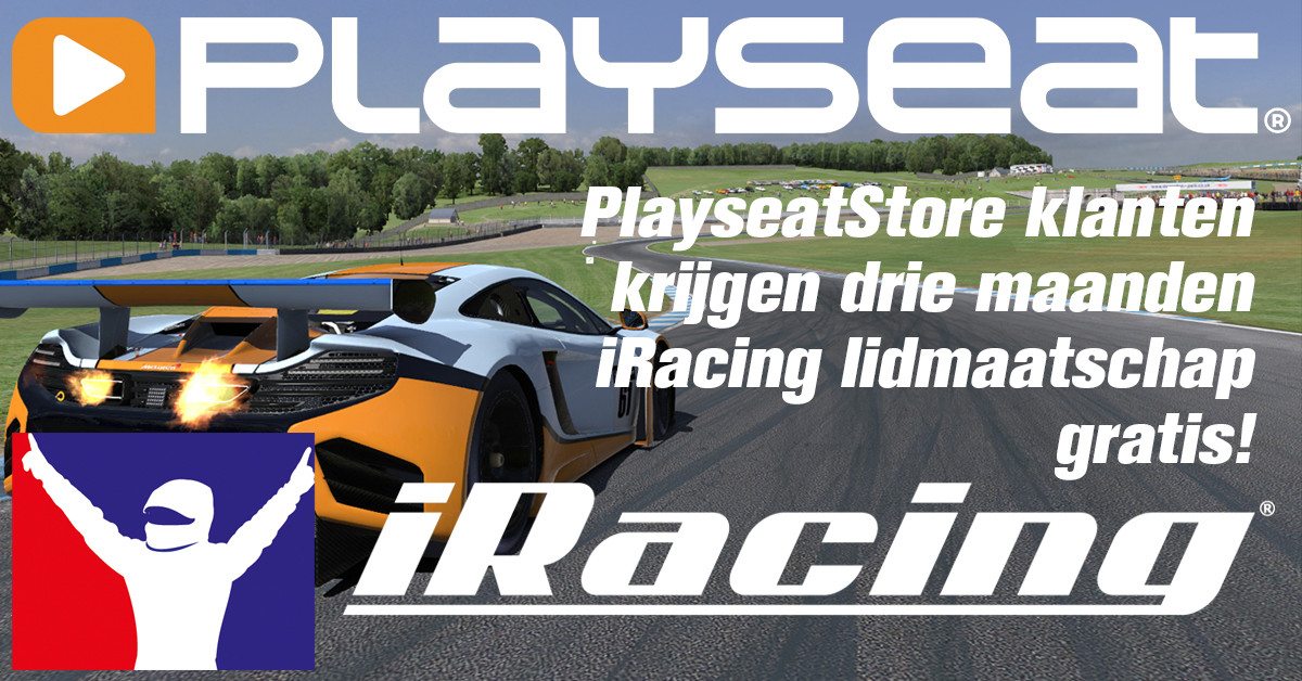 PlayseatStore customers get a free 3-month iRacing membership!